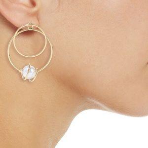 Kenneth Jay Lane Gold-pleated faux-pearl earrings